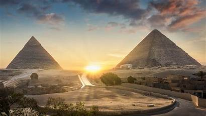 Pyramids Egyptian Built Were Giza Plateau Cairo