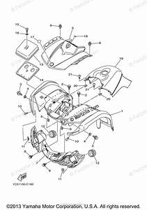 Yamaha Atv 2008 Oem Parts Diagram For Front Fender