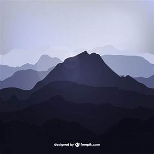 Mountain silhouettes Vector | Free Download