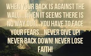 Image Gallery never back down quotes