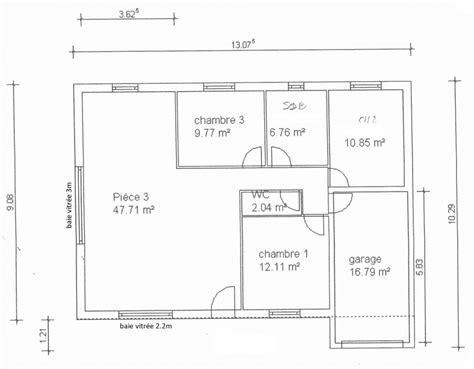 plan de maison 3 chambres plan de maison simple 3 chambres