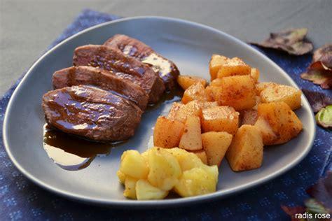 cuisiner magret magret de canard et compotée de coing aux épices radis