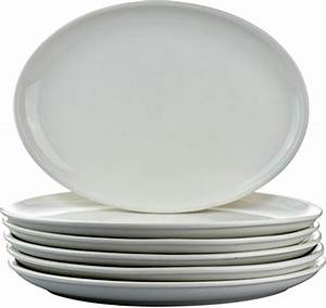 Argon Tableware White Oval Coupe Plates - 300x215mm (12x8
