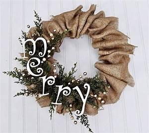diy rustic christmas decorations   easy DIY burlap ...