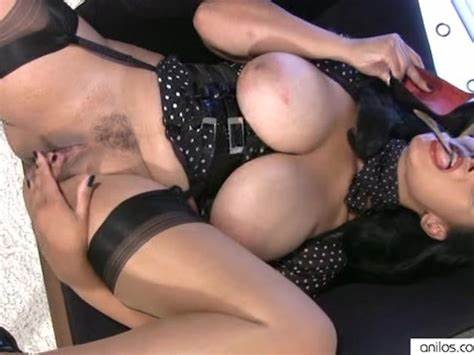Euro Brunette Joi In Layered Nylons