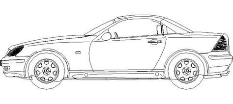 Kleurplaat Real Weel by Bloques Autocad Gratis De Coche Alzado Lateral Mercedes