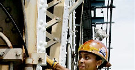 rare female ironworker beams  satisfaction ny daily news
