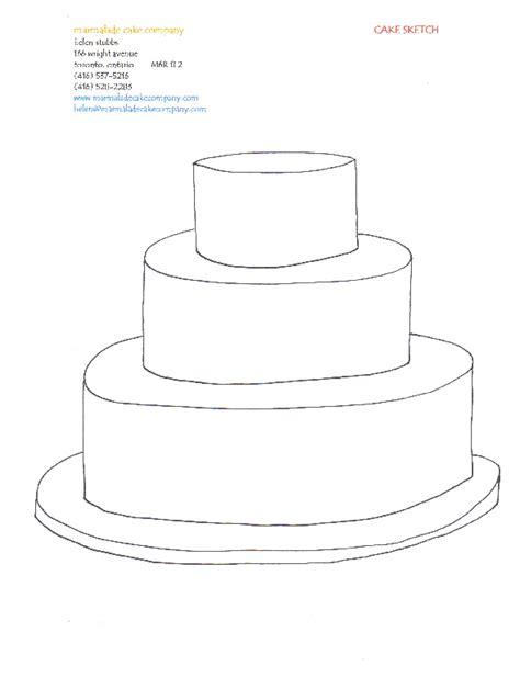 3 Tier Cake Blank Template