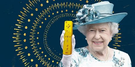 queen  england  gifted  golden wii console
