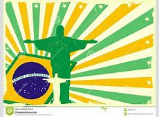 Jesus and brazilian flag stock vector Image of democracy