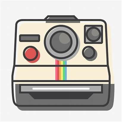 Polaroid Camera Cartoon Clipart Icon Instant Drawing