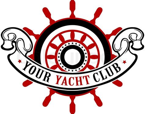 Vector Vintage Ship Wheel Emblem With ...