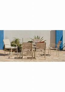 Salon De Jardin Acier : salon de jardin en acier table 6 chaises ~ Teatrodelosmanantiales.com Idées de Décoration
