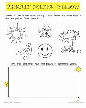 primary color practice yellow worksheet education 474 | primary color practice yellow nature