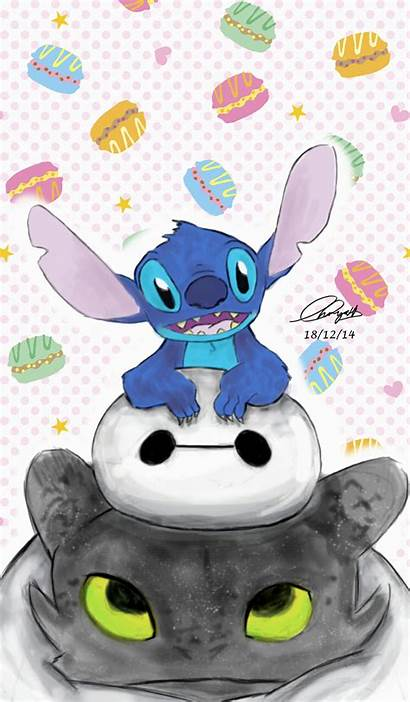 Stitch Toothless Disney Lilo Wallpapers Stich Baymax