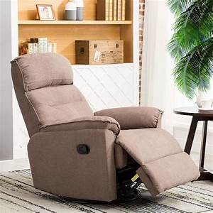 Shop For Canmov Contemporary Fabric Swivel Rocker Recliner