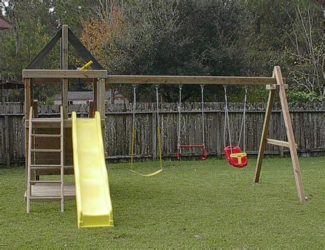 swing set plans apollo redwood fort swingset and diy plans gallery