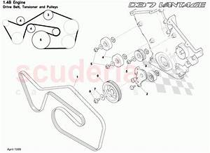 Drive Belt  Tensioner And Pulleys For Aston Martin Db7