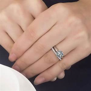 2ct Nscd Sona Simulated 6 Prong Solitaire Diamond Eternity