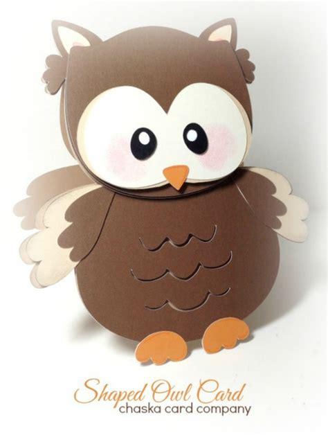 shaped owl card svg cutting file meylah