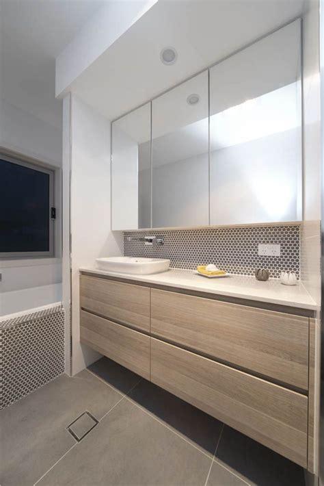 Contemporary Bathroom Downlight by Bulkhead With Downlight Caesarstone Grey Bathroom