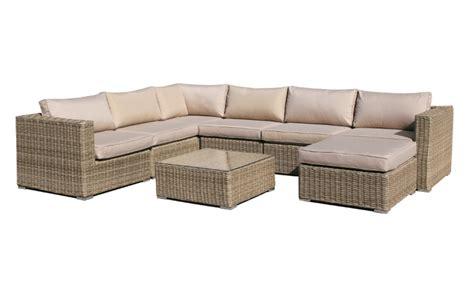 sofa lounge terraza sofa central lounge rattan natural kaui www regaldekor