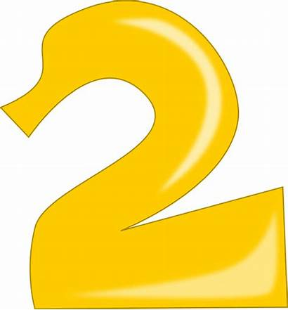 Number Clipart Clip Orange Clker Yellow Numbers