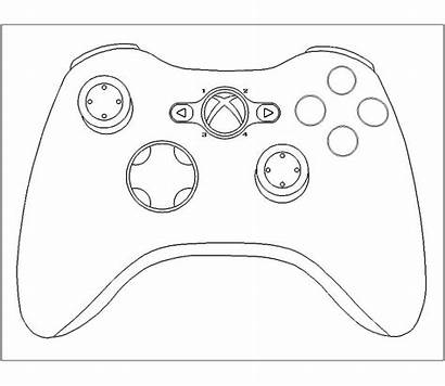 Controller Xbox Template Cake Playstation Templates Drawing