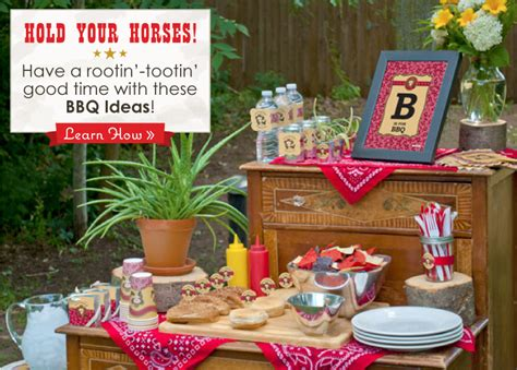 outdoor bbq decoration ideas bbq party event summer bbq ideas little cowboy party theme big dot of happiness