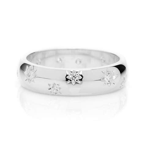 shape diamond star ethical platinum wedding ring mm