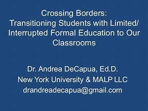 Crossing Borders DeCapua 2015 Migrant & ESL Conference PA