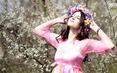 Spring Flowers Woman Pink Shoot Beauty Flower