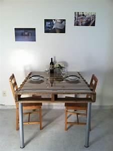 cheap table manger en palette simple fabriquer with fabriquer une table haute