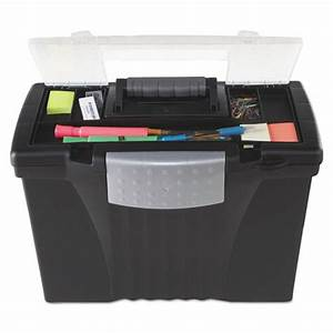 storex 61510u01c portable file storage box w organizer With letter organizer box