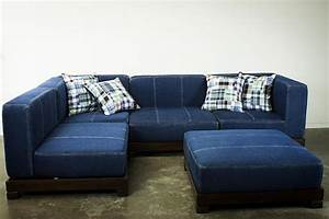 20 photos blue denim sofas sofa ideas for Blue denim sofa bed
