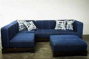 20 photos blue denim sofas sofa ideas for Blue denim sofa bed
