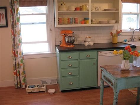 Before & After A White Kitchen Gets A Colorful Makeover