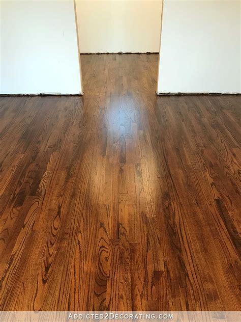 My Newly Refinished Red Oak Hardwood Floors