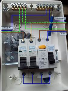 Wiring A Garage Consumer Unit Diagram