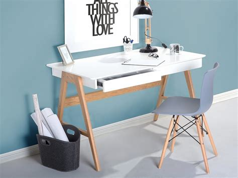 white and wood desk sheslay modern desk white top and oak legs office desks