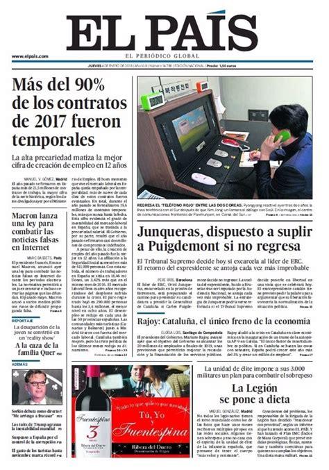Las portadas de los periódicos de hoy, jueves 4 de enero