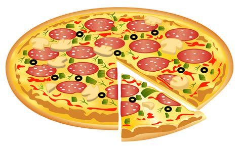 Pizza With A Slice Missing