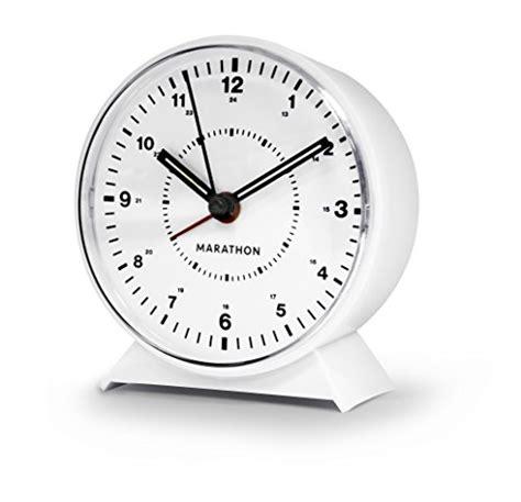 marathon analog desk alarm clock marathon cl034001wh mechanical wind up alarm clock white