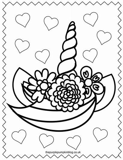 Unicorn Coloring Pages Printable Stars Colouring Hearts