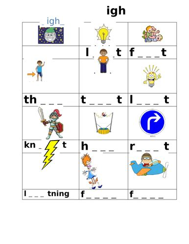 phase 3 igh sounds worksheet by joop09 teaching resources