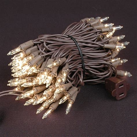 brown wire lights mini light sets 100 light brown wire 4 quot spacing
