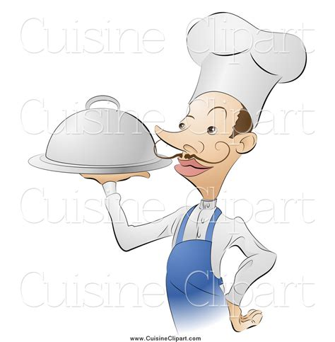 cuisine clipart cuisine clipart of a chef serving platter of food by atstockillustration 313