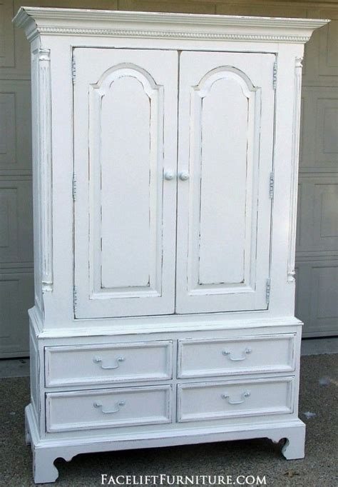 distressed armoires distressed white clothing armoire refinished bedroom