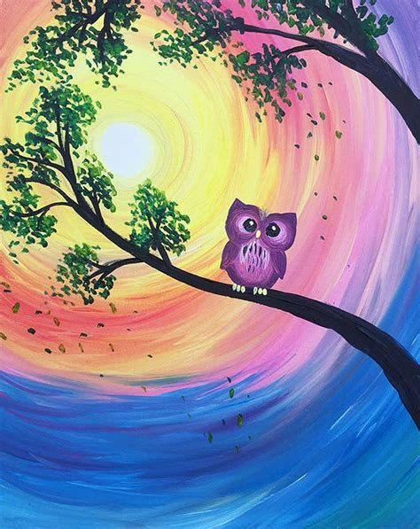 paint nite owl day long