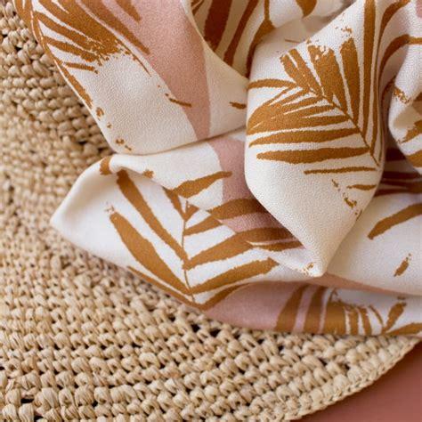 Krepa Wiskozowa Atelier Brunette Canopy Ochre POPCOUTURE - sklep z tkaninami, dzianinami i ...